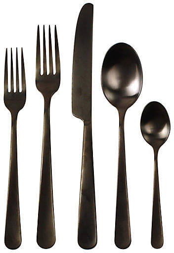 5-Pc Como Flatware Set - Black - Canvas