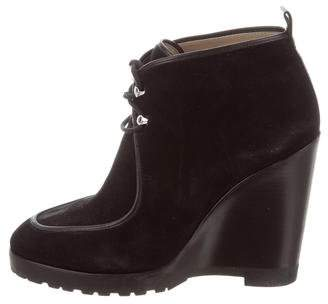 Michael Kors Suede Wedge Ankle Boots