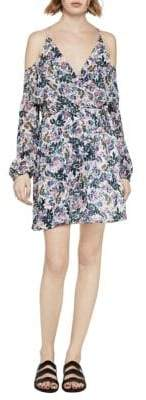 BCBGeneration Sunprint Floral Cold-Shoulder Dress