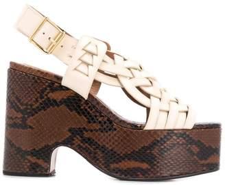 Marni intrecciato leather platform sandals