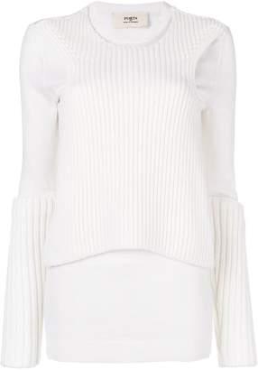 Ports 1961 long sleeve rib detail jumper