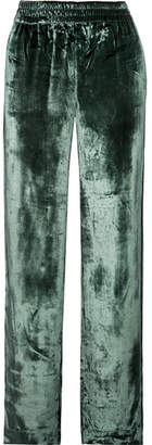 J Brand Ardon Velvet Wide-leg Pants - Emerald