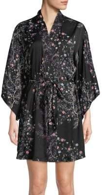 Josie Floral Printed Kimono Robe