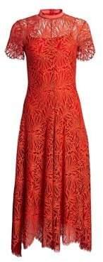 Proenza Schouler Printed Lace Mockneck Dress