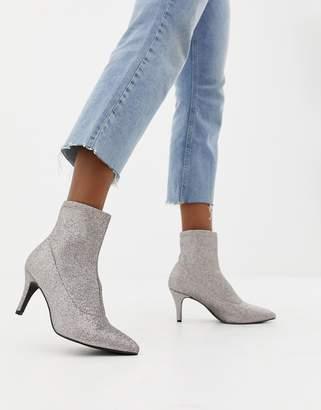 New Look Sock Kitten Heel Boot