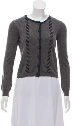 Anna Molinari Wool & Cashmere-Blend Knit Cardigan