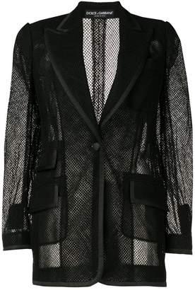 Dolce & Gabbana mesh single-breasted blazer