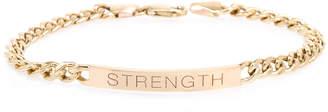 Chicco Zoe 14k Medium Curb-Chain STRENGTH Bracelet