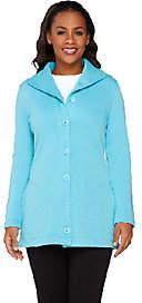 Denim & Co. Active Rib Knit Button Front LongSleeve Jacket