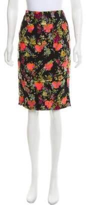 Yigal Azrouel Floral Silk Skirt