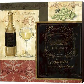 Italian Wine Patch By Fiona Stokes-Gilbert Canvas Art