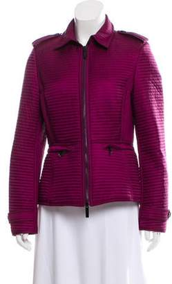 Burberry Quilted Zip-Up Jacket w/ Tags Purple Quilted Zip-Up Jacket w/ Tags