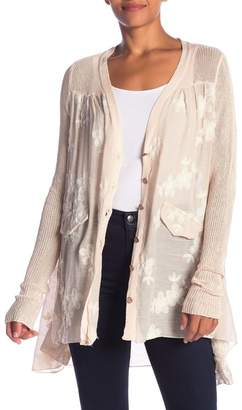 Couture Simply Floral Embroidered Knit Sleeve Cardigan