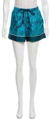 Mary Katrantzou Printed Silk Shorts w/ Tags