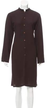 Eileen Fisher Silk Button-Up Dress