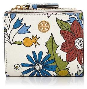 Tory Burch Robinson Mini Floral Leather Wallet