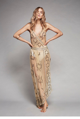 Intimately Womens SKY FALL EMBELLISHED MAXI $198 thestylecure.com