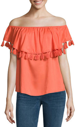 A.N.A a.n.aTassel Trim Off The ShoulderBlouse $44 thestylecure.com