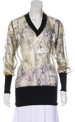 Jean Paul Gaultier Abstract Mesh Top