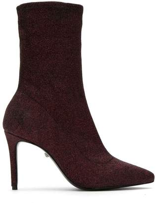 Schutz lurex knit booties