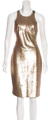 Mr & Mrs Italy Sequined Crossover Dress Gold Sequined Crossover Dress