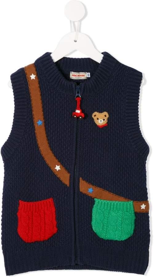 Miki House knit vest