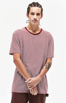 PS Basics by Pacsun Burgundy Stripe Relaxed T-Shirt
