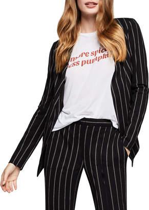 BCBGeneration Striped Open-Front Tuxedo Blazer