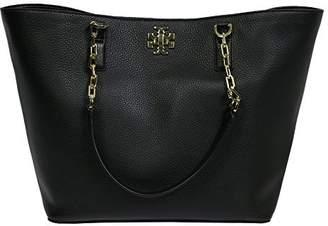 Tory Burch Mercer Tote Leather Handbag Logo