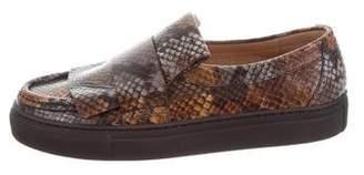 Dries Van Noten Embossed Leather Slip-On Sneakers w/ Tags