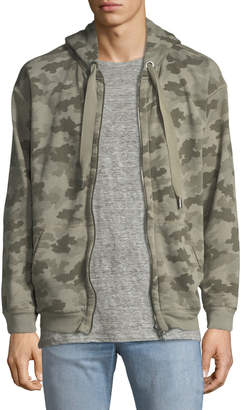 ATM Anthony Thomas Melillo Camouflage-Print Terry Zip-Front Hoodie Sweatshirt