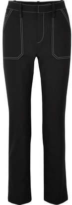 Chloé Crepe Straight-leg Pants - Black