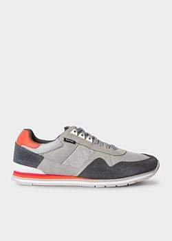 Paul Smith Men's Grey 'Vinny' Trainers With Suede Panels