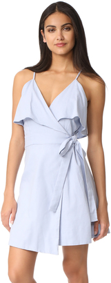 J.O.A. Cold Shoulder Wrap Ruffle Dress $95 thestylecure.com
