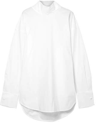 MM6 MAISON MARGIELA Cotton-poplin Turtleneck Top - White