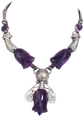 One Kings Lane Vintage Mexican Amethyst Tulip Necklace - Laurie Frank