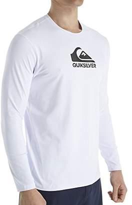 Quiksilver Young Men's Sportswear Men's Solid Streak Long Sleeve Rashguard Swim Shirt UPF 50+