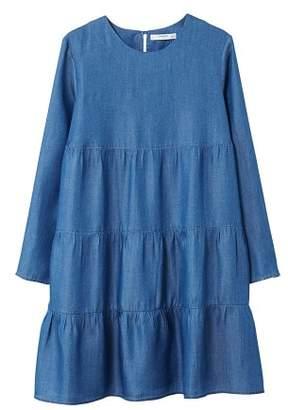 MANGO Gathered details dress