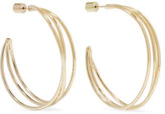 Jennifer Fisher Triple Thread Gold-plated Hoop Earrings