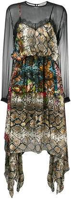 Preen by Thornton Bregazzi snake print sheer dress