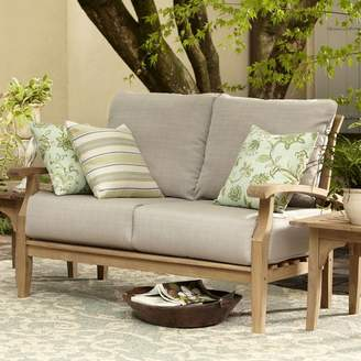 Birch Lane Summerton Teak Loveseat with Cushions