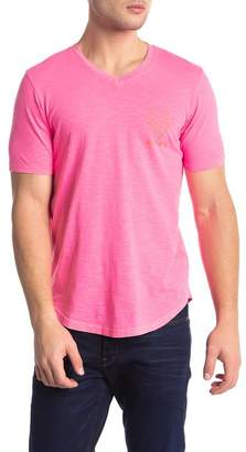 Goodlife Summer Faded Graphic Print V-Neck Tee