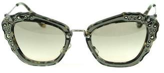 Miu Miu 04Qs DHE3H2 Marble White/Black 04Qs Cats Eyes Sunglasses Lens Categor