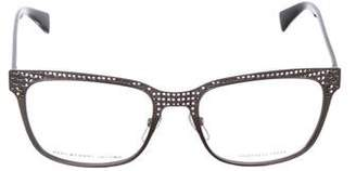 Marc by Marc Jacobs Metallic Round Eyeglasses