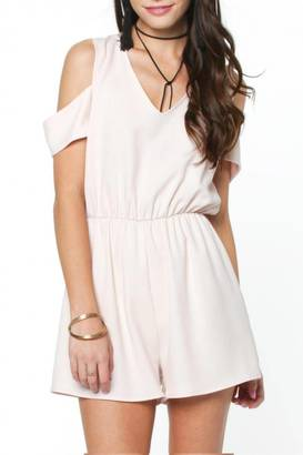 Everly Back Tie Romper $46 thestylecure.com