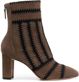 Alexandre Birman knitted detail boots