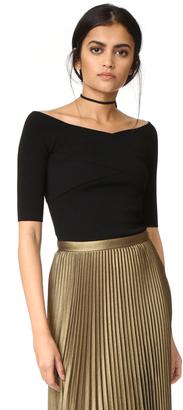 Autumn Cashmere Crisscross Off Shoulder Sweater $207 thestylecure.com
