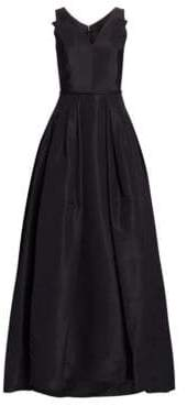 Carolina Herrera Women's Flared Silk Gown - Black - Size 6