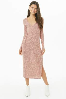 Forever 21 Marled Knit Surplice Dress