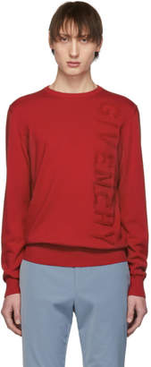 Givenchy Red Vertical Logo Sweater